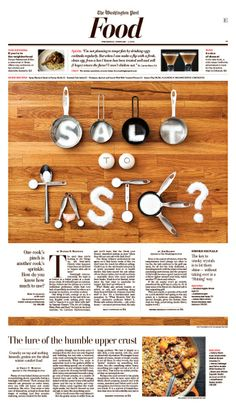 editorial design - Salt To Taste?