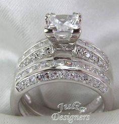 Tiffany Princess Cut wedding band sets | KGrHqR,!ioE-w!y!T--BP6o17t2e!~~60_35.JPG