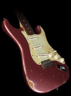 Fender Custom Shop '60 Stratocaster Relic Electric Guitar Burgundy Mist Metallic - Used