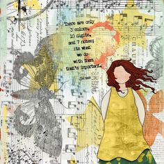 Art Journaling Pages - Thinking.... - Scrap Art Studio Gallery
