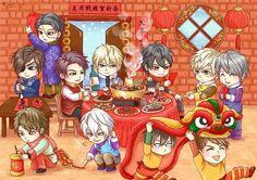 Anjir poor yukimura :v Midnight Cinderella, Samurai Love Ballad Party, Kamisama Kiss, Shall We Date, Happy Chinese New Year, Revolution, Nerdy, Chibi, Anime