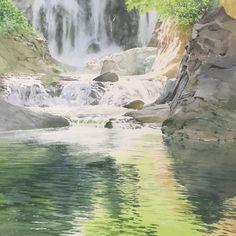 Abe Toshiyuki Watercolor on Waterford, 43x43cm, 2016