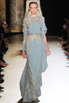 Elie Saab Fall 2012 Couture Fashion Show - Agata Rudko (IMG)