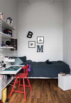Quarto Adolescente: +95 Ideias e Projetos Originais para 2021 Home Office Bedroom, Teenage Room, House Rooms, New Room, Decoration, Room Inspiration, Kids Room, Sweet Home, Vintage