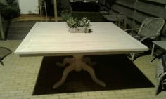 Tafel vierkant blad steigerhout