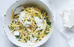 Summer Squash Slaw with Feta and Toasted Buckwheat