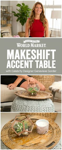 Multipurpose furniture in a small space is key—just ask celebrity designer and television host Genevieve Gorder, who thinks that the power of a pouf or stool goes beyond its intended use. www.worldmarket.com #WorldMarket #FallHomeRefresh