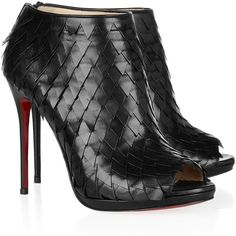 Christian Louboutin Diplonana 120 scale-effect leather ankle boots ($1,595)