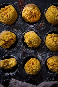 Herzhafte Süßkartoffelmuffins mit Chili