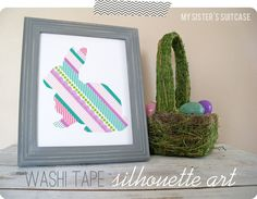 Washi Tape Silhouette Art Tutorial {by My Sister's Suitcase}