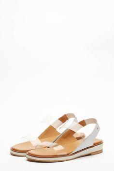 clear strap sandal white by Reike Nen