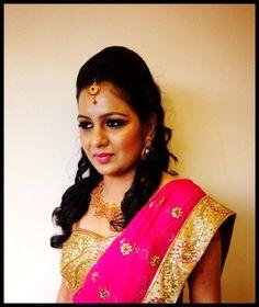 south indian bride | bridal saree makeup jewellery