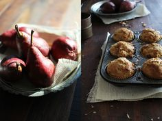 Pear Coconut Muffins with Brown Butter