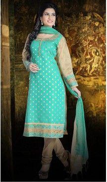 Turquoise Color Chanderi Silk Straight Cut Readymade Churidar Suit   FH512978099 #salwar, #kameez, #readymade, #anarkali, #patiala, #pakistani, #suits, #online, #stitched, #indian, #dress, #material, #shopping, #fashion, #boutique, #mode, @heenastyle , #designer , #pakistani , #evening , #wedding , #casual , #palazzo , #patiyala , #punjabi , #churidar , #narrow
