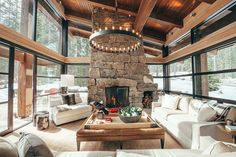 Rugged mountain ski retreat in the Canadian Rockies