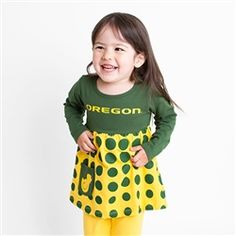 Never too young to represent the colors #GoDucks