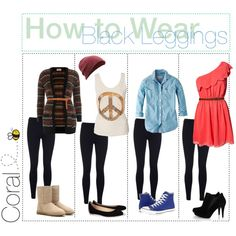 How to Wear Black Leggings <3<3<3