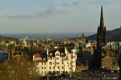 Travel in Clicks: Edinburgh view from the Castle