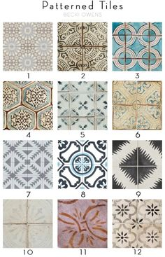 Patterned Tile Kitchens - Becki Owens