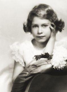 Queen Elizabeth II, then Princess Elizabeth, at the age of 8 (1934)