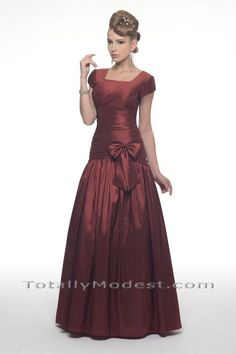 Jillian MODEST BRIDESMAID Totally Modest WEDDING dresses, PROM & Bridesmaid dresses w/ sleeves