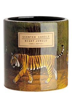 Check this out! Scented candle in a ceramic holder with a printed pattern. Diameter 3 1/2 in., height 3 3/4 in. Burn time approx. 40 hours. - Visit hm.com to see more.