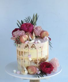Image result for semi naked cake with drip
