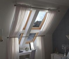 Bedroom 3   Curtains for velux window made with Laura Ashley