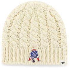 reputable site 941b3 9fa90 New England Patriots Newbury Beanie Natural 47 Brand Womens Hat