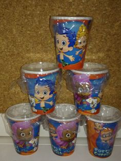 Bubble Guppies Party Favor Treat Cups with Lids & Treat Bags, Set of 6. These cups are great to put treats inside of them or to put inside of your party bags as a gift.