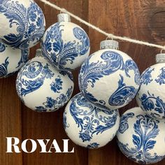 Chinoiserie Handmade Decoupage Ornaments | Etsy Christmas Balls, Christmas Tree Ornaments, Christmas Crafts, Christmas Things, Xmas, Tree Decorations, Christmas Decorations, Holiday Decor, Holiday Ideas