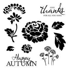 Happy Autumn Stamp Set  (D1550) www.scraptasticmemories.com