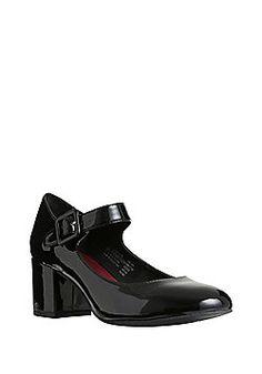 53457ea0fba F F Sensitive Sole Patent Mid Heel Mary Jane Shoes - Black Christmas Shoes