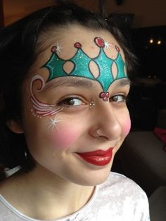 christmas - Starting up christmas designs. - Page 4 … Girl Face Painting, Face Painting Designs, Painting For Kids, Paint Designs, Body Painting, Christmas Face Painting, Balloon Painting, Painted Christmas Ornaments, Maquillage Halloween
