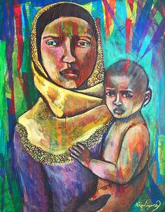 """Rohingya Mother and Child"" by Nancy Rodriguez"