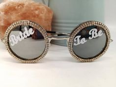 Sparkly Bride to Be Round Sunglasses - Women's style: Patterns of sustainability Rebecca Brown, Round Sunglasses, Sunglasses Women, Festival Sunglasses, Bachelorette Gifts, Love To Shop, Bridal Gifts, Bridal Accessories, Pink Ladies