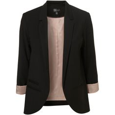 Black Boyfriend Blazer ($130) ❤ liked on Polyvore featuring outerwear, jackets, blazers, tops, coats, women, black boyfriend jacket, boyfriend blazer, black boyfriend blazer and black jacket
