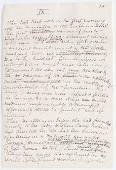 Edith Wharton's manuscript for The House of Mirth.