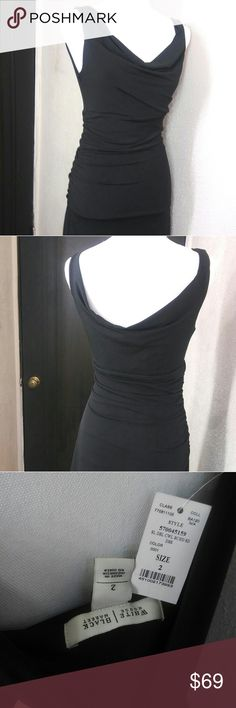 WHBM Classic Little Black Dress NWT Incredible Little Black Dress! This dress is a show stopper. It is SO flattering!! Side rouching, loose neck that falls perfectly on chest(but not too low), and sexy lower swoop back. There is a zipper and catch on opposite side of rouching. Inner lining. It has such a good feel to it (95% poly and 5% spandex). I have photos of the inside tag and inner lining as well.    Selling because my (now ex) boyfriend didn't want me to wear in public because IT…