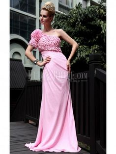 Trumpet/Mermaid One Shoulder Floor-length Stretch Satin Tencel Evening Dresses
