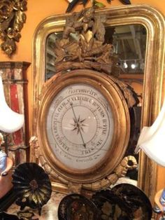 Early 19th Century French Barometer   $6800  Clutter Antiques 5015 Lovers Lane Dallas, TX 75209