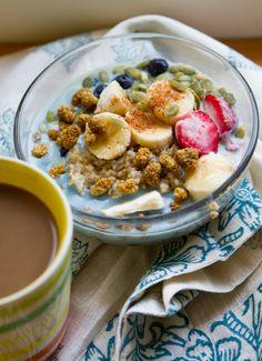 super food steel cut oatmeal #vegan #breakfast