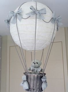 centro de mesa globo aerostatico baby shower - Google Search