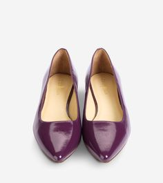 Magnolia Skimmers by Cole Haan in Elderberry Saffiano Patent
