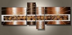 100% Hand Painted Art 4 Piece Wall Art Large Abstract Lines Modern Art Large Art Group Painting Artwork for Home Decoration (Unstretch No Frame) by galleryworldwide, http://www.amazon.com/dp/B0094X07RU/ref=cm_sw_r_pi_dp_0WcUrb14HJQN6