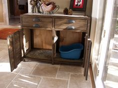 Printer's Console or Sneaky Litterbox Cabinet?   Do It Yourself Home Projects from Ana White