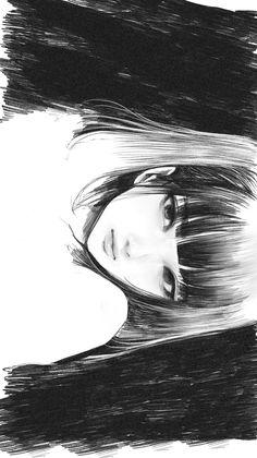 Anime Art Girl, Manga Art, Art Drawings Sketches, Cool Drawings, Aesthetic Art, Aesthetic Anime, Anime Monochrome, Arte Fashion, Gothic Anime
