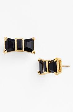 Girly bow stud earrings.
