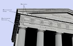 Ancient Greek Temple Architecture - History of Architecture Ancient Greek Architecture, Temple Architecture, Classical Architecture, Contemporary Architecture, Interior Design History, Mycenae, Temple Design, Grand Mosque, Parthenon