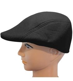 57529edcf43 Men s Classic Newsboy Hat- Driving Cap with Ear Flaps in Various Colors  Black CW12MZRVJH4